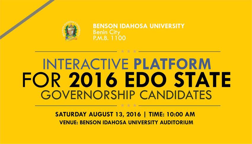 Edo governorship Candidates 1